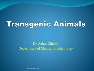 Transgenic Animals