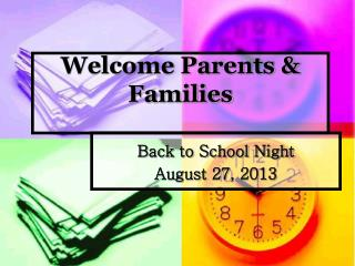 Welcome Parents & Families