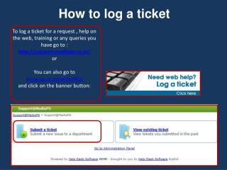 How to log a ticket