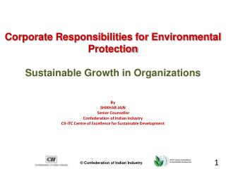 Corporate Responsibilities for Environmental Protection Sustainable Growth in Organizations