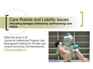 Care Robots and Liability Issues Allocating damages inflicted by (self-learning) care robots