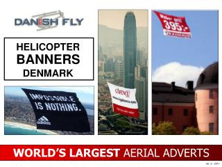 WORLD ' S LARGEST  AERIAL ADVERTS
