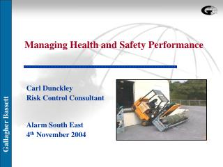 Managing Health and Safety Performance