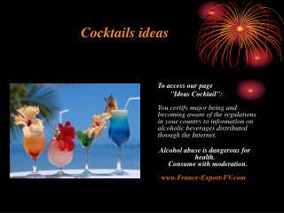 Cocktails ideas