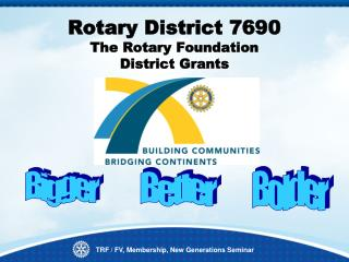 Rotary District 7690  The Rotary Foundation  District Grants