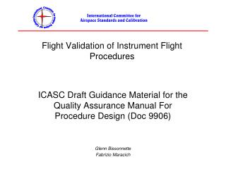 Flight Validation of Instrument Flight Procedures