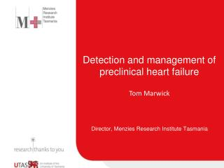 Detection and management of preclinical heart failure
