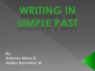 Writing in simple past