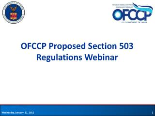 OFCCP Proposed Section 503 Regulations Webinar