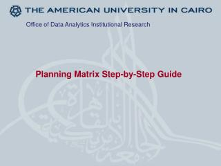 Planning Matrix  Step-by-Step Guide
