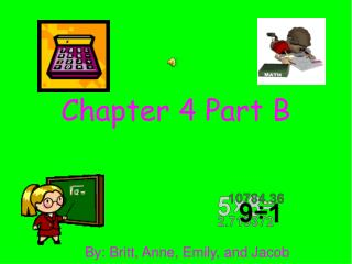 Chapter 4 Part B