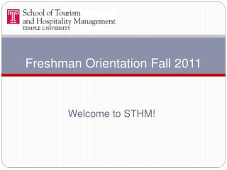 Freshman Orientation Fall 2011