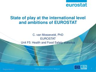 State of play at the international level and ambitions of EUROSTAT