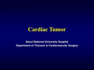 Cardiac Tumor