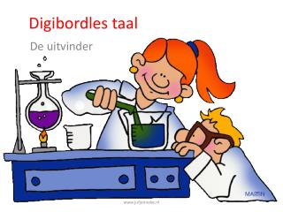 Digibordles  taal
