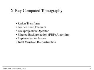 X-Ray Computed Tomography