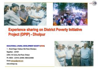 Experience sharing on District Poverty Initiative Project (DPIP) - Dholpur