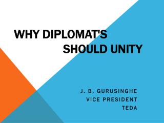 Why Diplomat's 						Should Unity