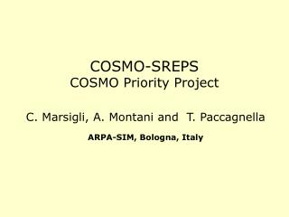 COSMO-SREPS  COSMO Priority Project