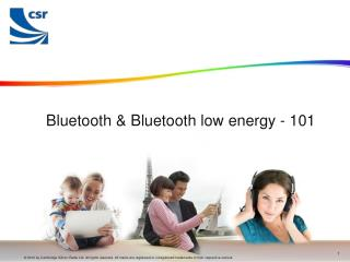 Bluetooth & Bluetooth low energy - 101