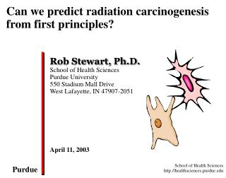 Can we predict radiation carcinogenesis from first principles?