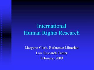 International   Human Rights Research