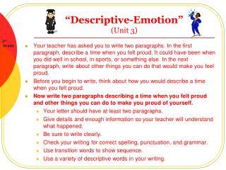 """"""" Descriptive-Emotion"""" (Unit 3)"""