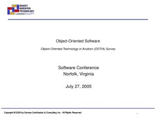 Object-Oriented Software Object-Oriented Technology in Aviation (OOTiA) Survey