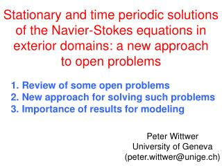 Peter Wittwer University  of Geneva (peter.wittwer@unige.ch)
