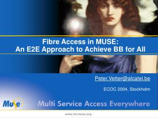 Fibre Access in MUSE:  An E2E Approach to Achieve BB for All