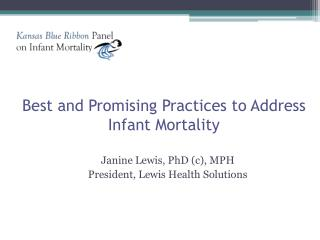 Best and Promising Practices to Address Infant Mortality