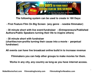 Filmmaking School-Make Movie in 180 Days-Become Film Directo
