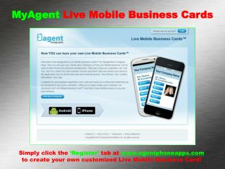MyAgent  Live Mobile Business Cards