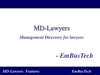 MD-Lawyers Management Directory for lawyers