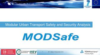 Modular Urban Transport Safety and Security Analysis