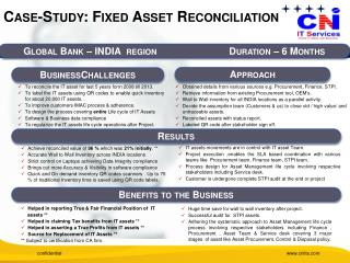Case-Study: Fixed Asset Reconciliation
