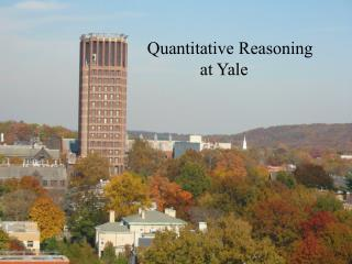 Quantitative Reasoning             at Yale