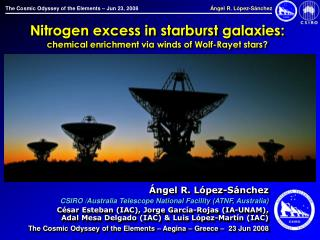Nitrogen excess in starburst galaxies: chemical enrichment via winds of Wolf-Rayet stars?