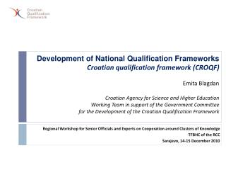 Regional Workshop  for Senior  Officials and Experts  on  Cooperation around Clusters of Knowledge