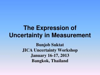 The Expression of Uncertainty in Measurement