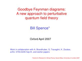 Goodbye Feynman diagrams: A new approach to perturbative  quantum field theory