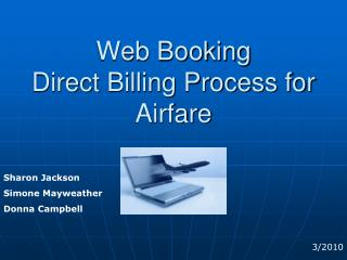 GT Travel Web Booking  Direct Billing Process for Airfare