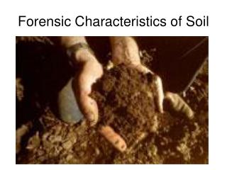 Forensic Characteristics of Soil