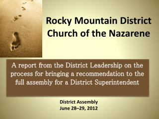 Rocky Mountain District  Church of the Nazarene