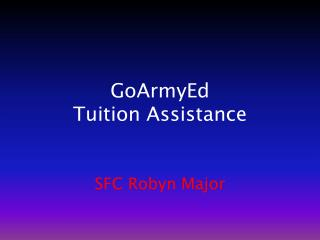 GoArmyEd Tuition Assistance