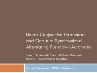 Linear Conjunctive Grammars and One-turn Synchronized Alternating Pushdown Automata