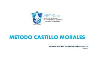 METODO CASTILLO MORALES ALUMNA: MILDRED ALEJANDRA JIMENO GALAVIZ ABRIL  2012