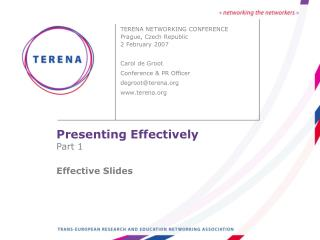 Presenting Effectively Part 1 Effective Slides