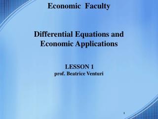 Economic Faculty