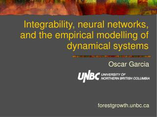 Integrability, neural networks, and the empirical modelling of dynamical systems